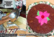 Fruit cake, with cherries on a plate by Radha Ramoutar making cake batter in bowl, Sweet T&T, Sweet TnT, Trinidad and Tobago, Trini, vacation, travel