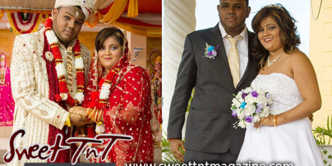 Ashook and Felesha Parboo pose for a photo at their Hindu wedding ceremony after they were given Aashirvad which means blessings from the family, Sweet T&T, Sweet TnT, Trinidad and Tobago, Trini, vacation, travel
