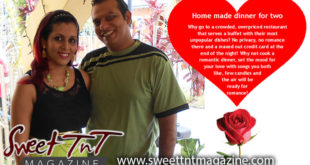 Nerissa Hosein and husband, romantic home made dinner for two, valentine gifts, Sweet T&T, Sweet TnT, Trinidad and Tobago, Trini, vacation, travel
