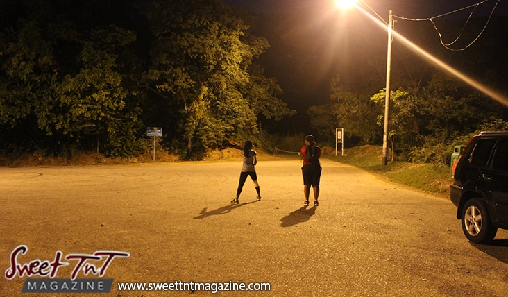 Ladies walk exercise at night on Lady Chancellor Hill Port of Spain for story original outdoor gym in Sweet T&T, Sweet TnT, Trinidad and Tobago, Trini, vacation, travel
