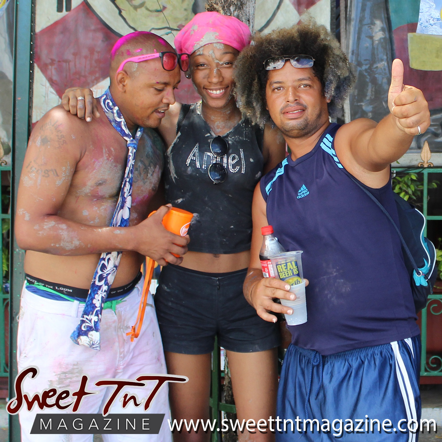 Jouvert revellers on Ariapita Avenue, Carnival 2017 in sweet T&T for Sweet TnT Magazine, Culturama Publishing Company, for news in Trinidad, in Port of Spain, Trinidad and Tobago, with positive how to photography.