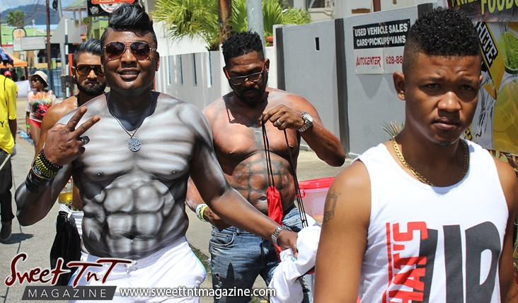 Mas men on Ariapita Avenue, Carnival 2017 in sweet T&T for Sweet TnT Magazine, Culturama Publishing Company, for news in Trinidad, in Port of Spain, Trinidad and Tobago, with positive how to photography.
