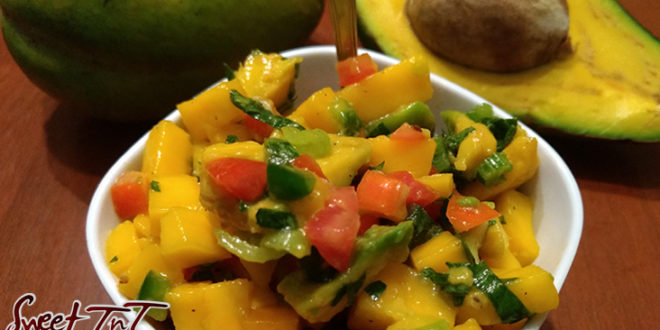 Avocado and mango salsa