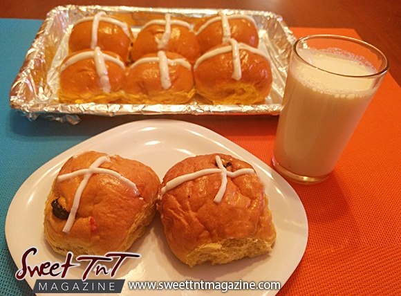 Hot Cross buns and milk