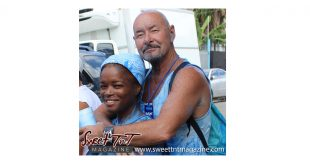 Biological age. Sweet TnT Jouvert couple in Trinidad Carnival 2017.